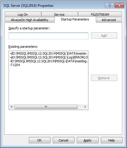 Registry-Current Startup Parameters